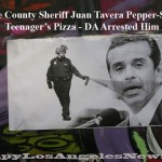 Orange County Sheriff Juan Tavera arrested for pepper spraying a teenager's pizza during a traffic stop. Photo shown from Occupy LA encampment.