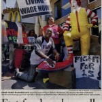 Fast food workers staged protests across the nation on 8.29.2013. They are demanding $15 per hour wages.