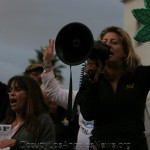 Melissa Balin at Occupy LA protest in 2011