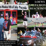Loews Santa Monica Beach Hotel's Official Confederate Entry Into 4th of July Parade Santa Monica California